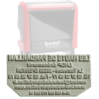 Replacement rubber plate for self-inking stamps